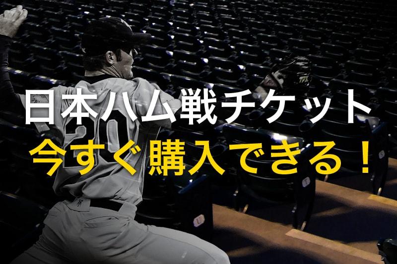 日本ハム戦のチケット 今すぐ購入できる