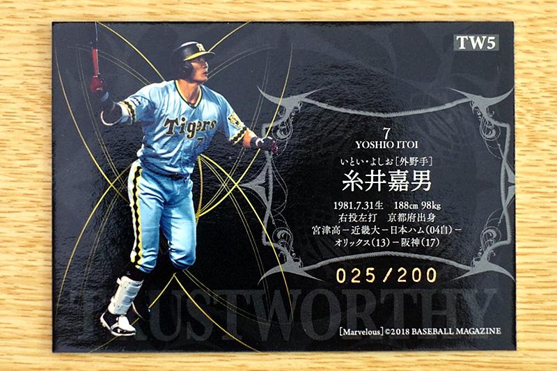 糸井嘉男のインサートカード