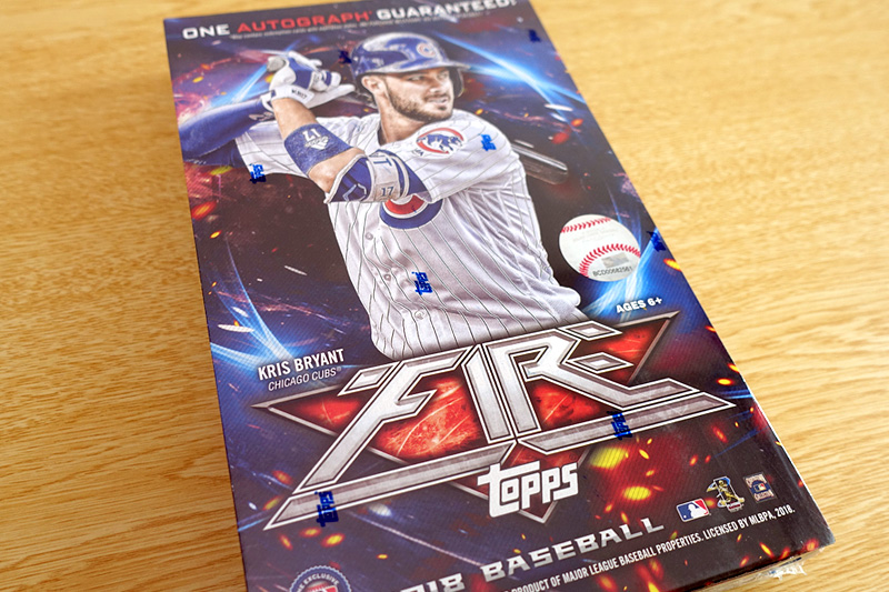 MLB 2018 TOPPS FIRE BASEBALL BOX