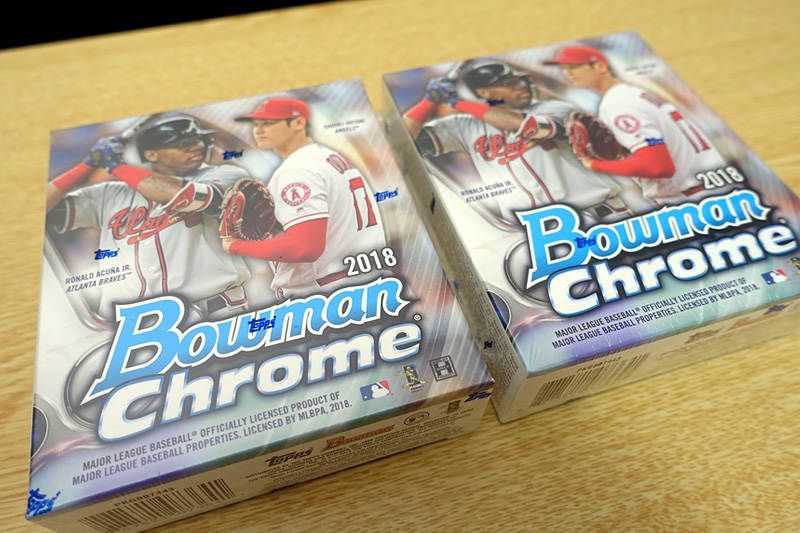 MLB 2018 BOWMAN CHROME BASEBALL HOBBY インナーボックス