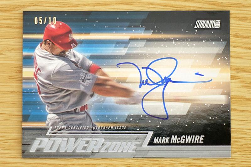 Mark McGwireの直筆サインカード